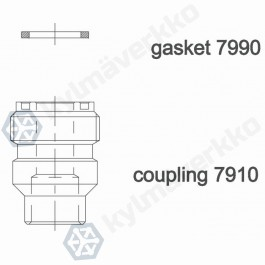 Rotalock juotosyhde CASTEL 7910/6- 3/4-16UNF- 10/13MMS