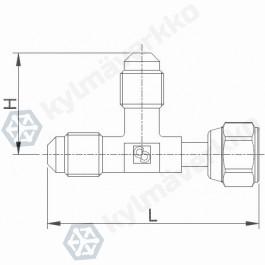 Neulaventtiili CASTEL 8380/X08- 1/4MSAE- 1/4MSAE- 1/4FSAE