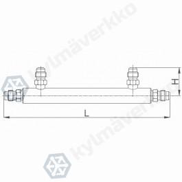 Neulaventtiili jakotukki CASTEL 9900/X47