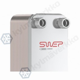 "Levylämmönvaihdin SWEP V80Hx80/1P-SC-S 22U(27)+35.1(27)+2x1 1/4""&28U(27)"