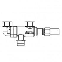 Vaihtoventtiili CASTEL 3032E/64- 3/4MNPT- 1/2FNPT- 1/2FNPT- 120BAR