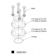 Adapteri CASTEL 5690/X01- 3-pulttia, 1.7/8 B.C.