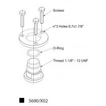 Adapteri CASTEL 5690/X02- 1.1/8- 12UNF