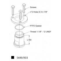 Adapteri CASTEL 5690/X03- 1.1/8- 18UNEF