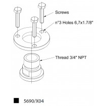 Adapteri CASTEL 5690/X04- 3/4NPT