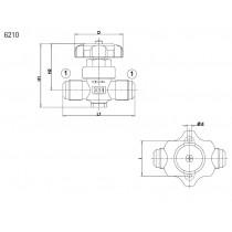 Sulkuventtiili CASTEL 6210/2- 1/4MSAE