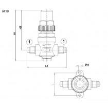 Sulkuventtiili CASTEL 6410/2- 1/4MSAE