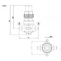 Sulkuventtiili CASTEL 6420/7- 7/8S