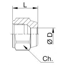 Laippamutteri CASTEL 7010/22- NS4-4- 1/4SAE