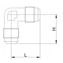 Kierreyhde CASTEL 7210/2- E2-4- 1/4MSAE- 1/4MSAE