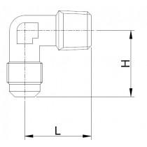 Kierreyhde CASTEL 7220/2- E1-4B- 1/4MSAE- 1/4MNPT