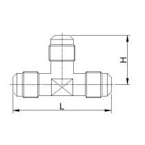 Kierreyhde CASTEL 7310/2- T2-4- 1/4MSAE- 1/4MSAE- 1/4MSAE