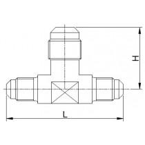 Kierreyhde CASTEL 7320/223- TR2-46- 1/4MSAE- 3/8MSAE- 1/4MSAE