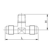 Kierreyhde CASTEL 7330/221- T1-4A- 1/4MSAE- 1/8MNPT- 1/4MSAE
