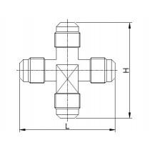 Kierreyhde CASTEL 7410/2- C1-4- 1/4MSAE- 1/4MSAE- 1/4MSAE- 1/4MSAE