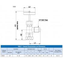 Putken lävistys venttiili CASTEL 8330/A- 1/4MSAE- 6...10MM