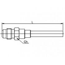 Neulaventtiili CASTEL 8350/X12- 1/4MSAE- 6MMS (L=326MM)
