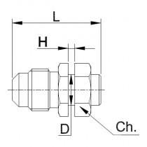 Neulaventtiili CASTEL 8350/X09- 5/16MSAE- 1/4S