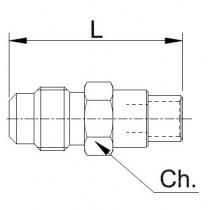 Neulaventtiili CASTEL 8351/X07- 5/16MSAE- 3/8S- 6MMS