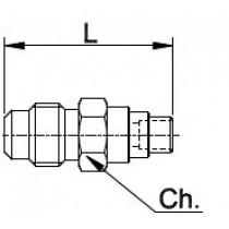 Neulaventtiili CASTEL 8351/X06- 1/4MSAE- 6MMS- 8MMS- 10MMS