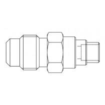 Neulaventtiili CASTEL 8351/X01- 1/4MSAE- 1/8S- 6MMS- 120BAR