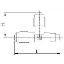 Neulaventtiili CASTEL 8380/X01- 1/4MSAE- 1/4MSAE- 6S