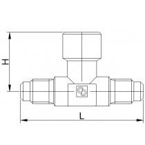 Neulaventtiili CASTEL 8380/X09- 1/4MSAE- 1/4FSAE- 1/4MSAE