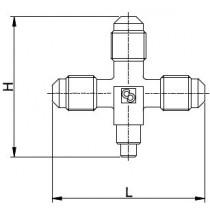Neulaventtiili CASTEL 8382/X03- 1/4MSAE- 1/4MSAE- 1/4MSAE- 6S