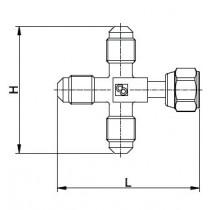 Neulaventtiili CASTEL 8382/X04- 1/4MSAE- 1/4MSAE- 1/4MSAE- 1/4MSAE