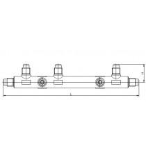 Neulaventtiili jakotukki CASTEL 9900/X81