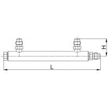 Neulaventtiili jakotukki CASTEL 9900/X87