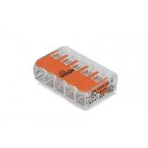 Vipurasialiitin WAGO 221-415 5-OS 5x0.08-4mm (25kpl)
